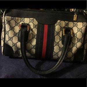 Authentic Gucci Classic Blue Leather Handbag